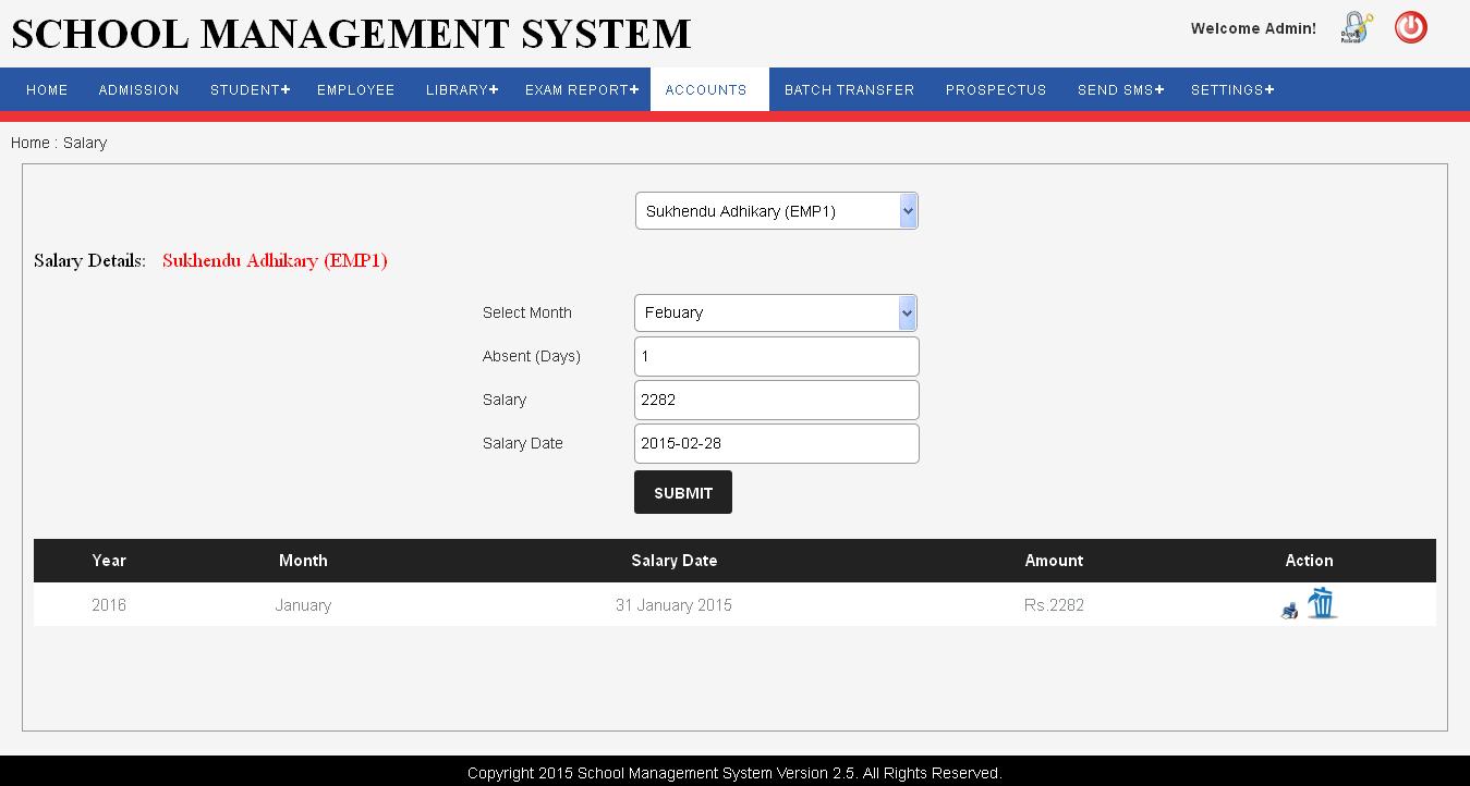 Technology Management Image: School Management Software, Dashboard, Admin Panel